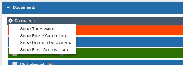 New docMgt Viewer - Main Options