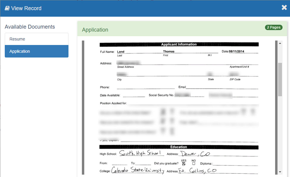 Public Search Document View